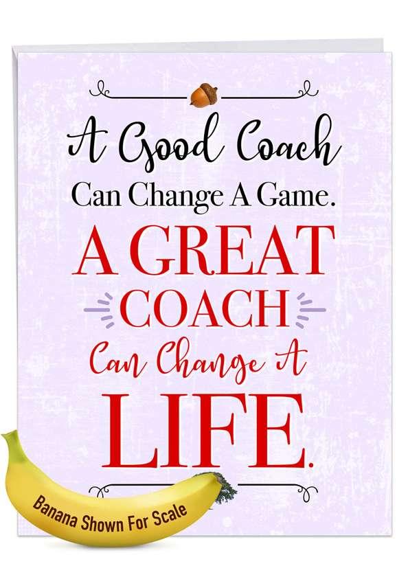 Life-Changing Coach Jumbo Card