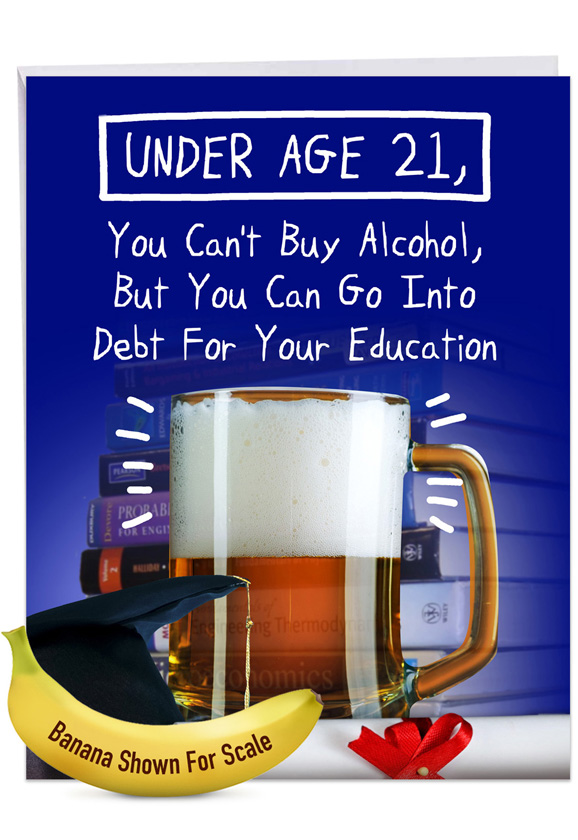 Under 21: Hilarious Graduation Giant Printed Card