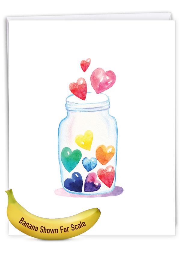Love Jar: Creative Valentine's Day Jumbo Printed Greeting Card