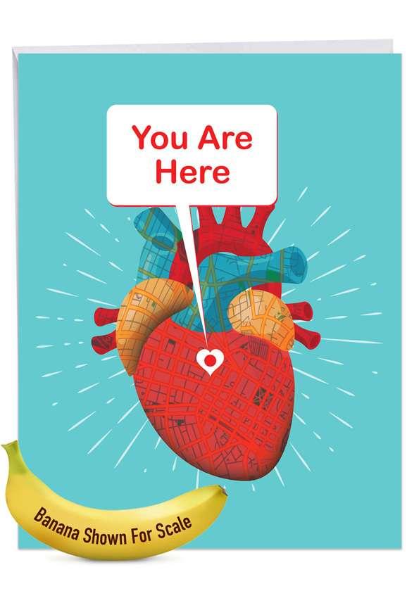 Heart Map Jumbo Card