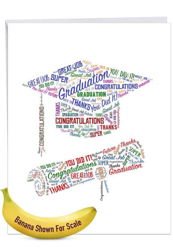 Diploma Wordart Jumbo Card