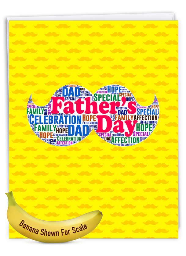 Father's Words: Stylish Father's Day Big Card