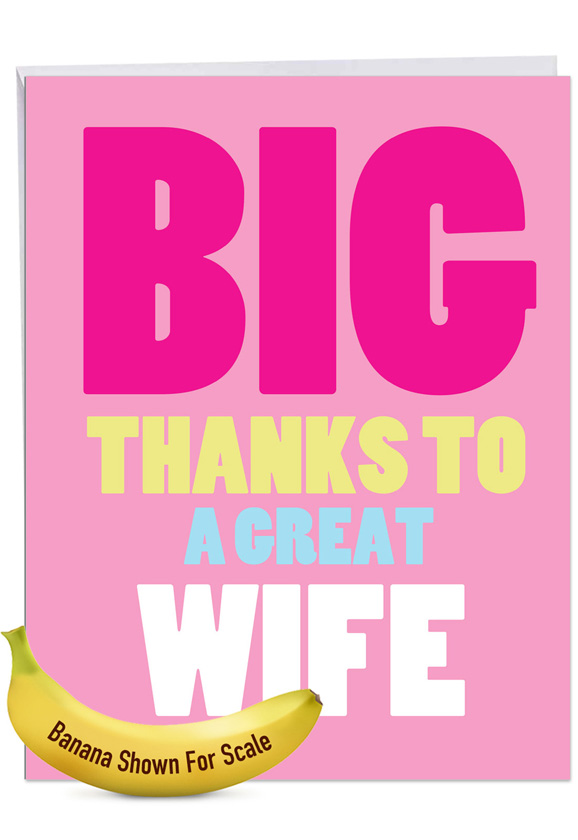 Great Wife: Hysterical Thank You Giant Printed Card