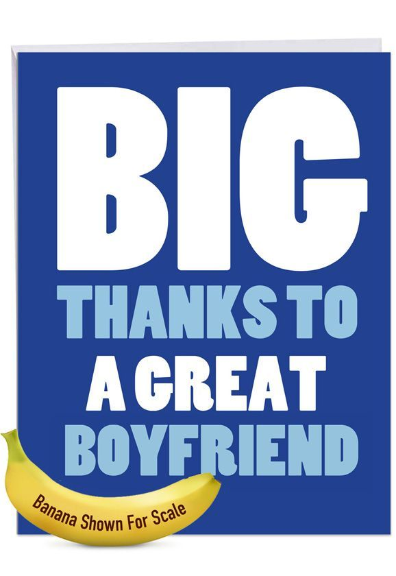 Great Boyfriend: Hilarious Thank You Giant Printed Card