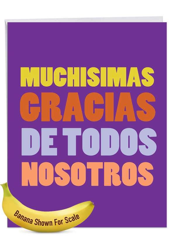 Big Muchas Gracias Jumbo Card