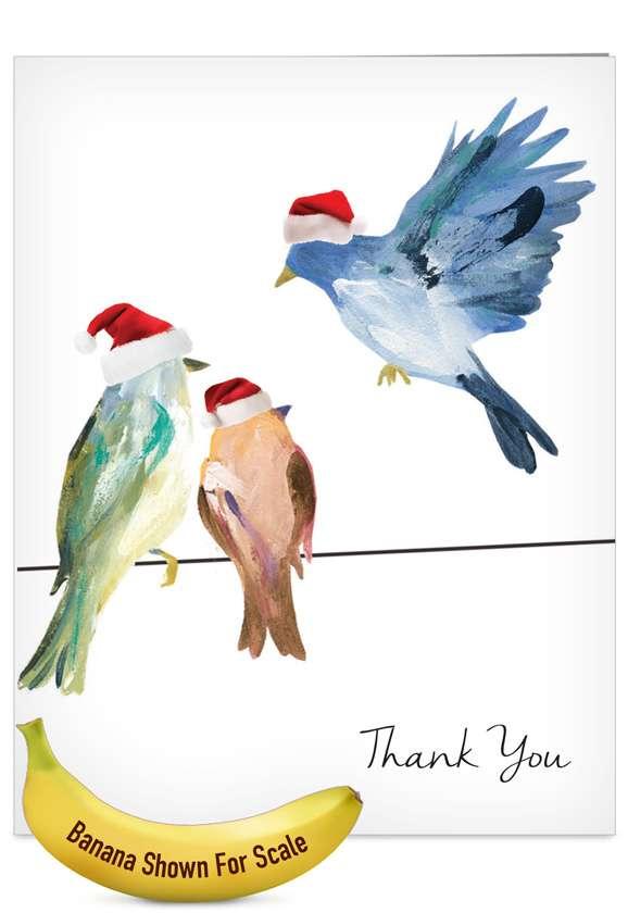 High Wire Birds: Stylish Blank Jumbo Printed Card