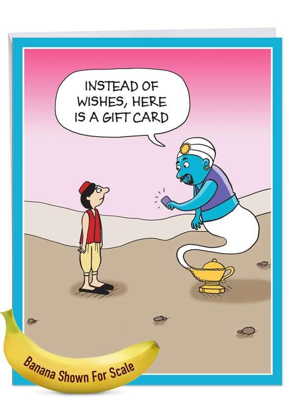 Genie Gift Card: Humorous Birthday Big Card