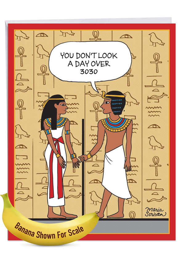 Ancient Compliment: Hysterical Birthday Large Greeting Card