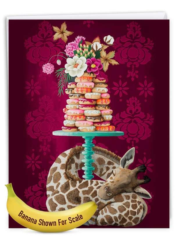 Fancy Wildlife - Giraffe: Creative Birthday Giant Printed Card