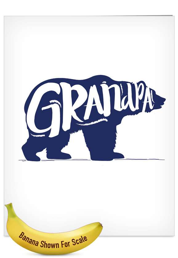 Grandpa Bear: Stylish Father's Day Grandpa Jumbo Printed Card