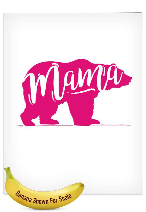 Mama Bear: Stylish Mother's Day Jumbo Greeting Card