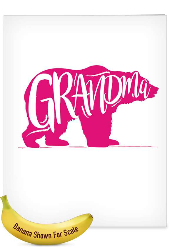 Grandma Bear: Creative Mother's Day Grandma Jumbo Printed Card