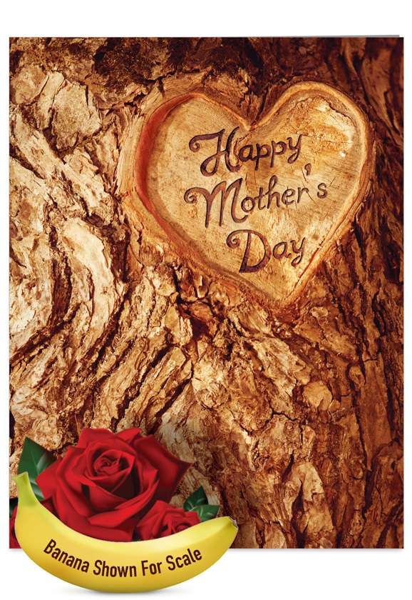 Trunk: Humorous Mother's Day Jumbo Paper Greeting Card