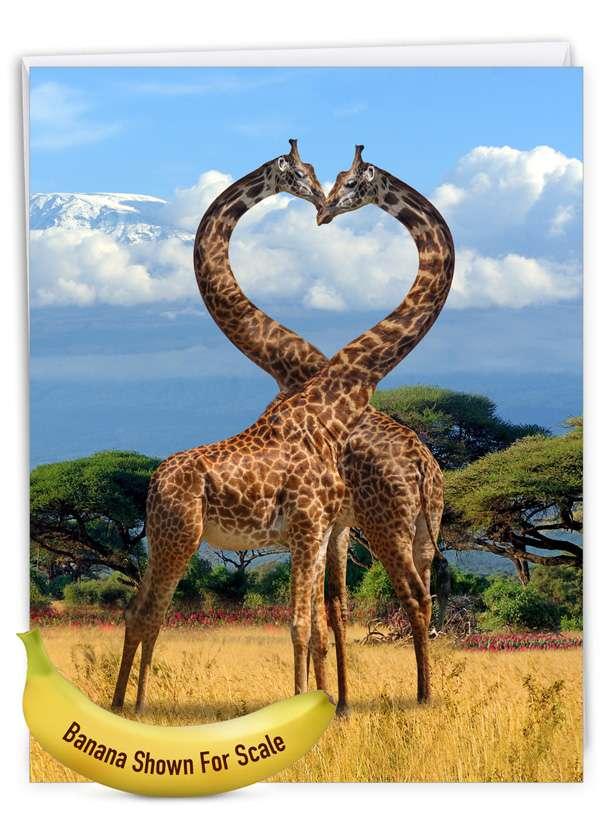 Loving Animals: Stylish Anniversary Extra Large Paper Card