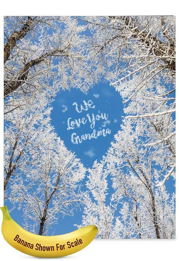 Sky Heart - Grandma: Hysterical Mother's Day Grandma Jumbo Printed Greeting Card