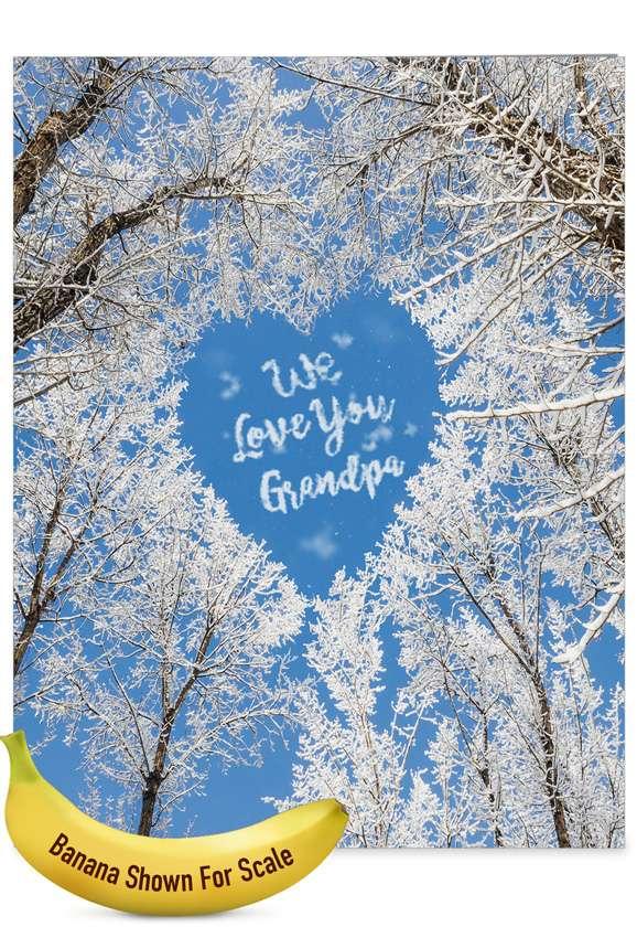 Sky Heart - Grandpa: Funny Father's Day Grandpa Big Card