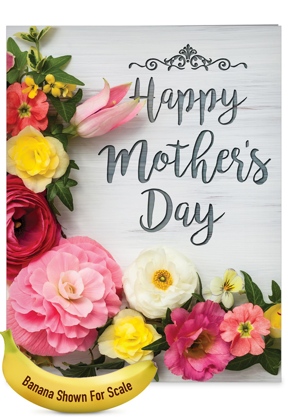 Mother's Day Blooms: Stylish Mother's Day Big Card