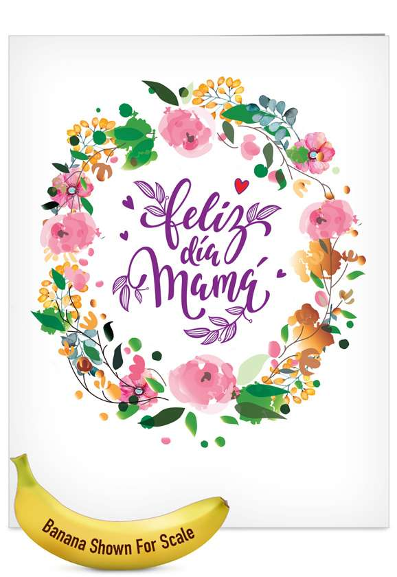 Spanish: Stylish Mother's Day Jumbo Printed Card