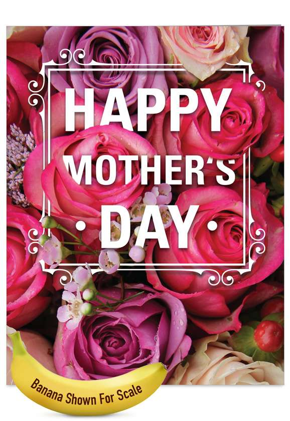 Flowers for Mom: Stylish Mother's Day Jumbo Printed Greeting Card