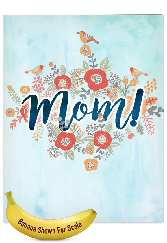 Blooming Mom: Stylish Mother's Day Jumbo Printed Card