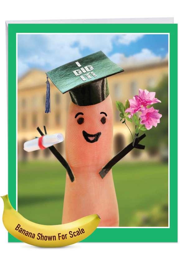 Graduation Digits Jumbo Card