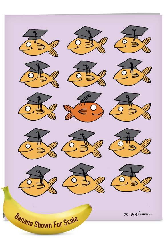 Stand Out in Crowd: Hysterical Graduation Jumbo Greeting Card