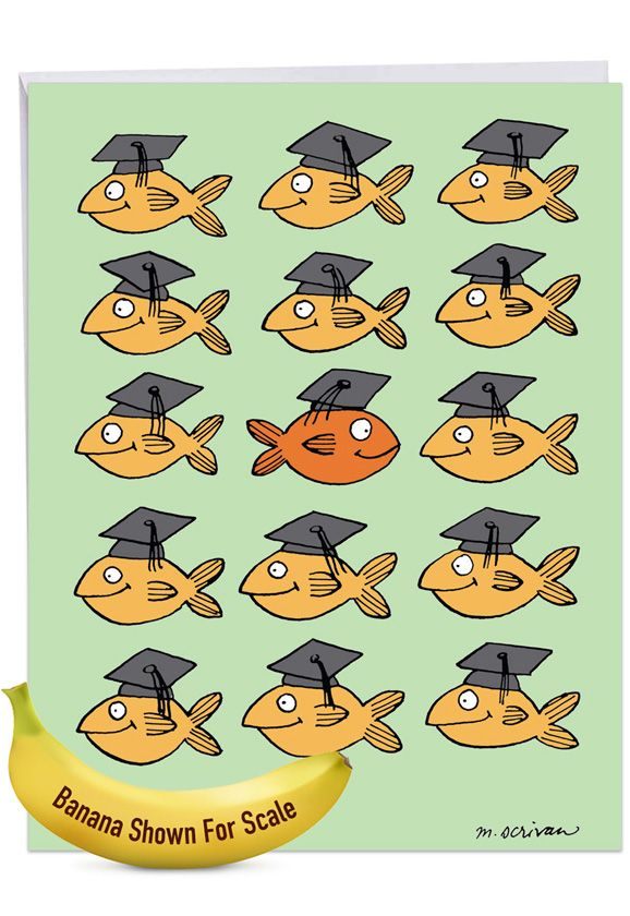 Stand Out In Crowd: Stylish Graduation Big Card