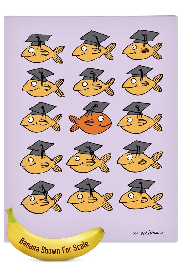 Stand Out in Crowd: Funny Teacher Thank You Jumbo Printed Card
