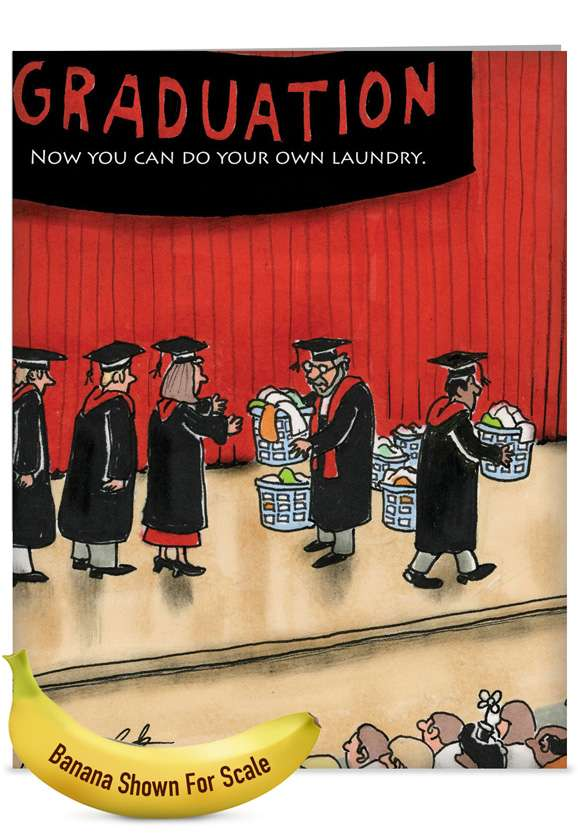 Do Your Laundry: Hysterical Graduation Jumbo Paper Greeting Card