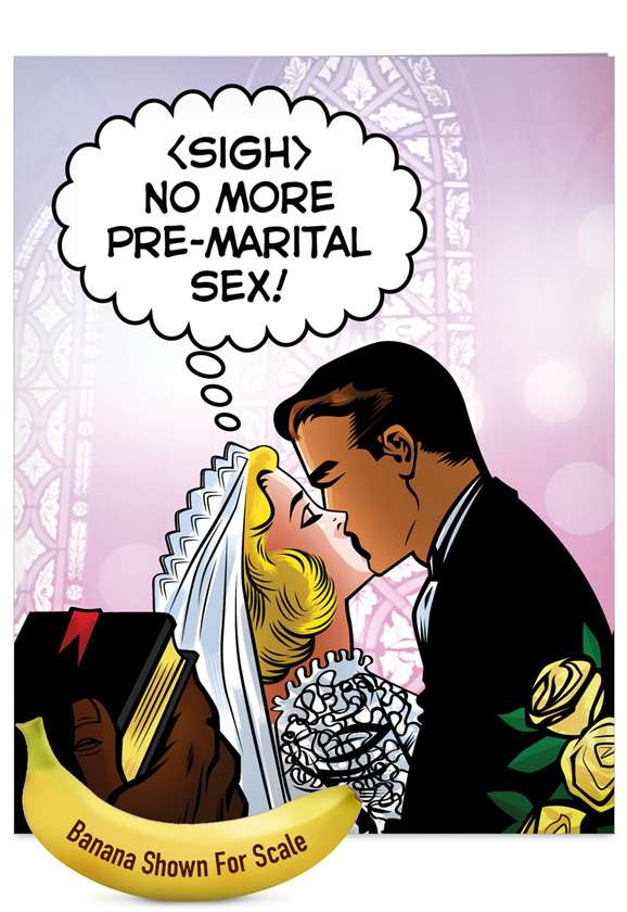 Pre-Marital Sex: Humorous Bachelorette Jumbo Greeting Card