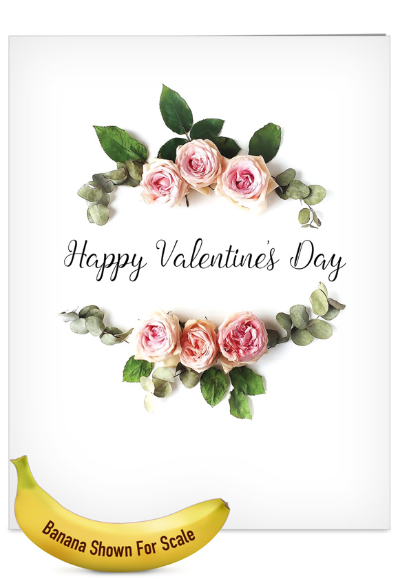 Elegant Flowers: Stylish Valentine's Day Big Card