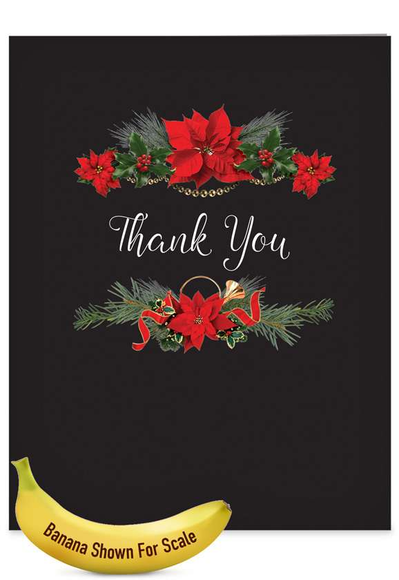 Elegant flowers: Creative Blank Jumbo Paper Greeting Card