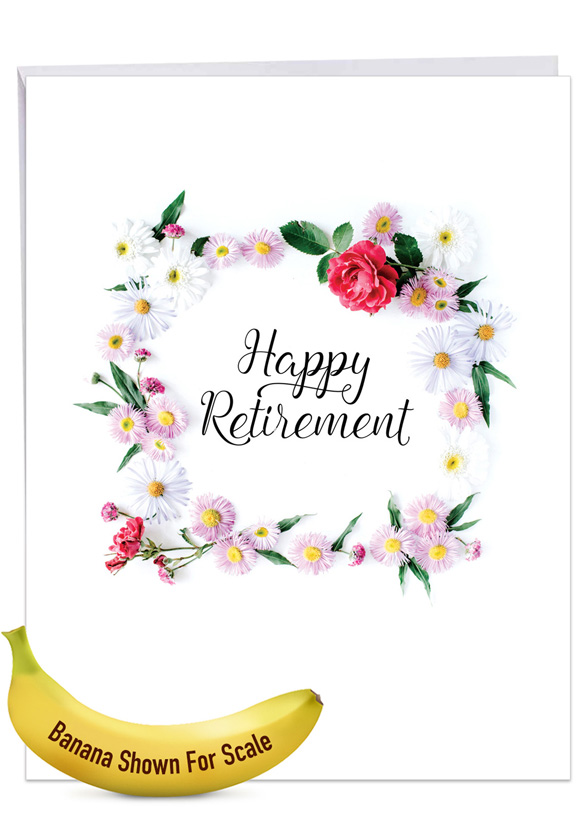 Elegant Retirement: Creative Retirement Giant Printed Card