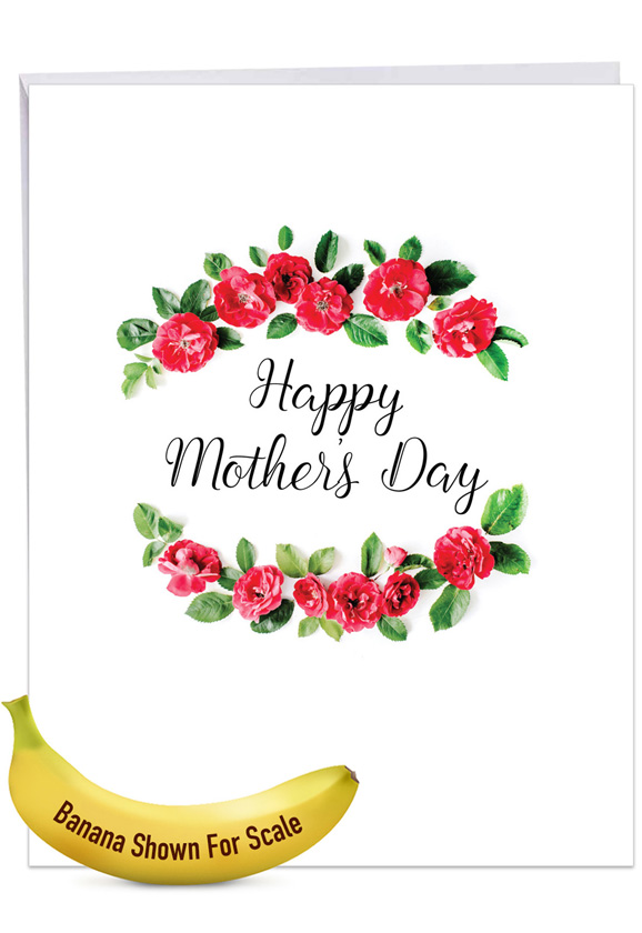 Elegant Flowers: Creative Mother's Day Jumbo Printed Greeting Card