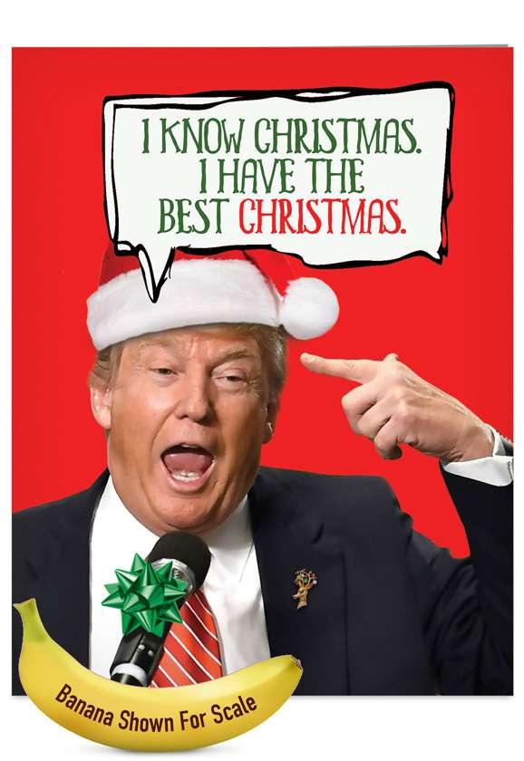 Trump Best Christmas: Hilarious Christmas Jumbo Greeting Card