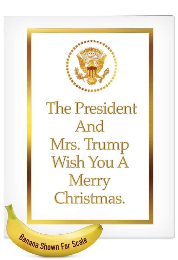 President and Mrs. Trump: Hysterical Christmas Jumbo Printed Greeting Card