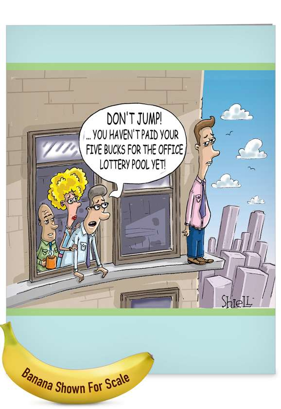 Don't Jump: Humorous Retirement Jumbo Printed Card