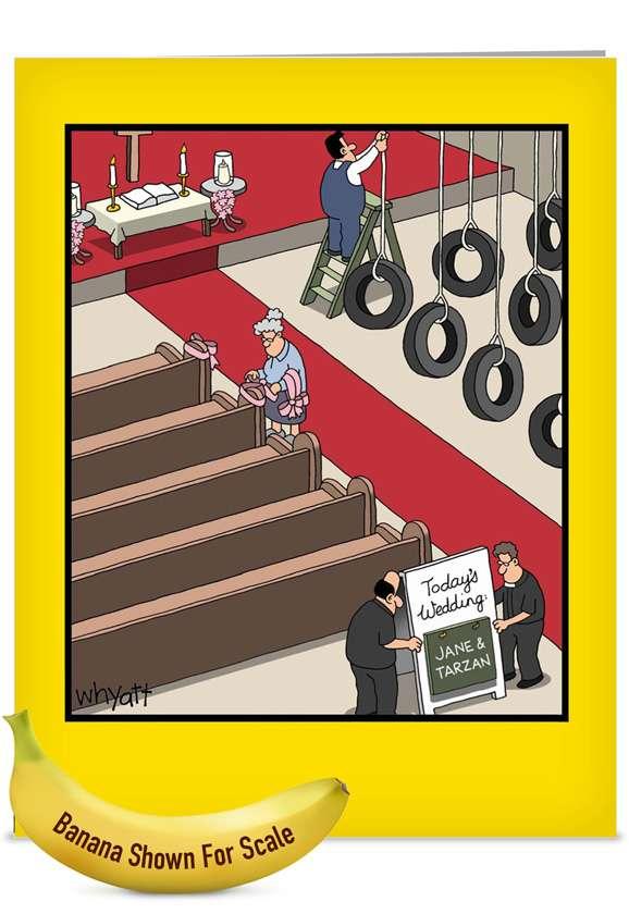 Jane & Tarzan: Hilarious Wedding Jumbo Greeting Card