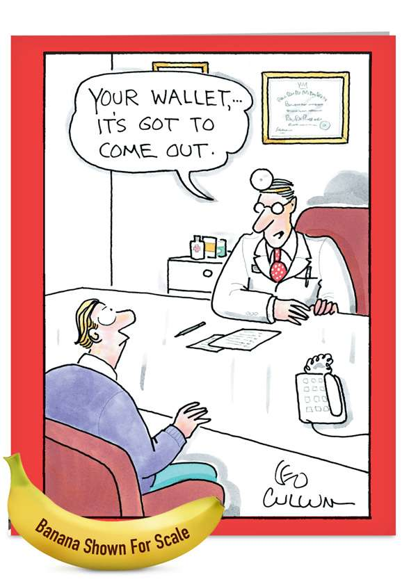 Your Wallet: Funny Get Well Jumbo Paper Card