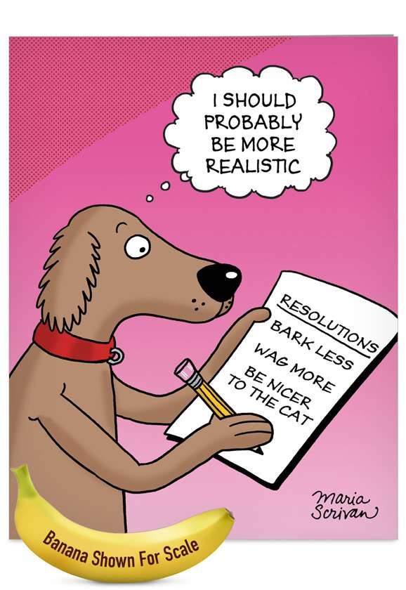 Dog Resolutions Card