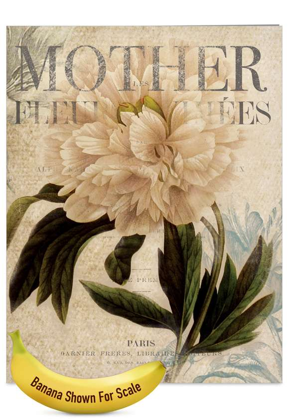 Painted Peonies: Creative Mother's Day Jumbo Greeting Card