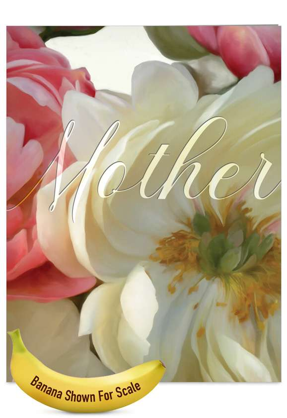 Peony Passion: Stylish Mother's Day Jumbo Paper Card