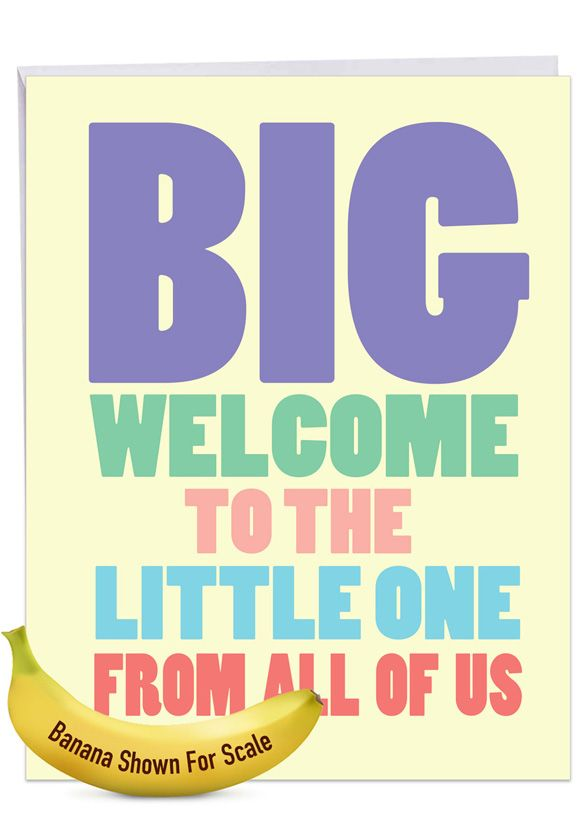 Big Welcome: Funny Baby Big Card