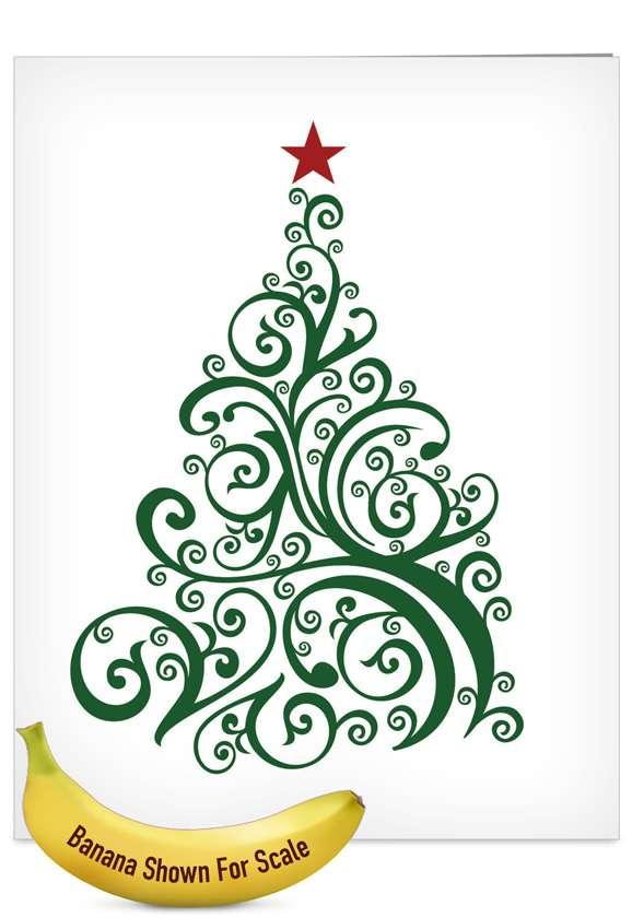 Just Fir You: Creative Christmas Thank You Jumbo Printed Greeting Card