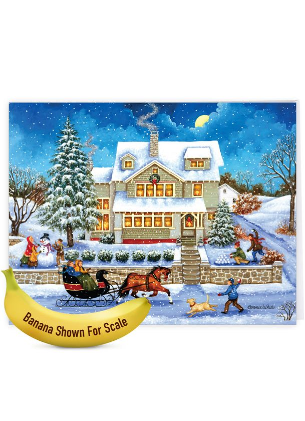 Old Town: Creative Christmas Thank You Jumbo Greeting Card