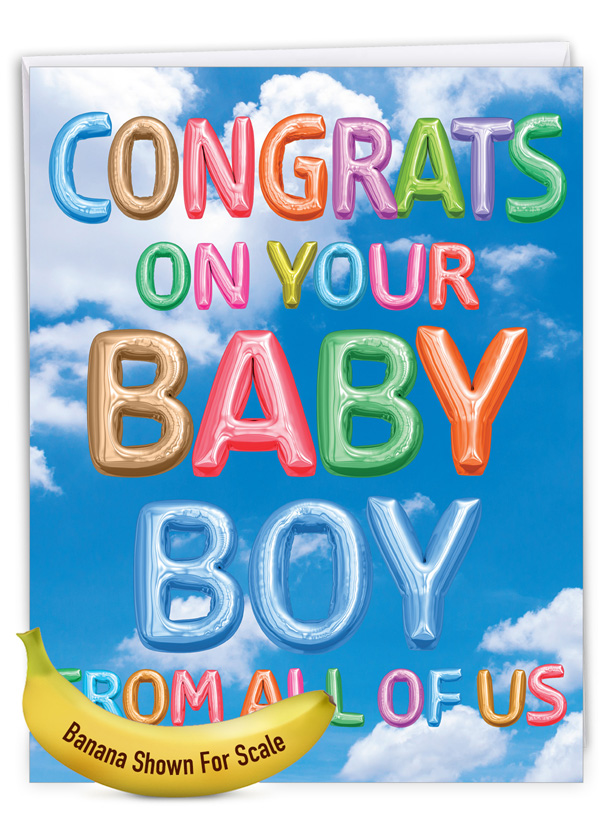 Inflated Messages - Baby Boy: Creative Baby Giant Printed Card