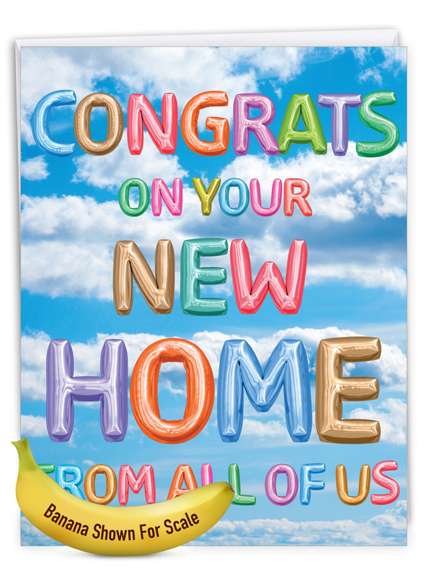 Inflated Messages - New Home: Stylish New Home Big Card