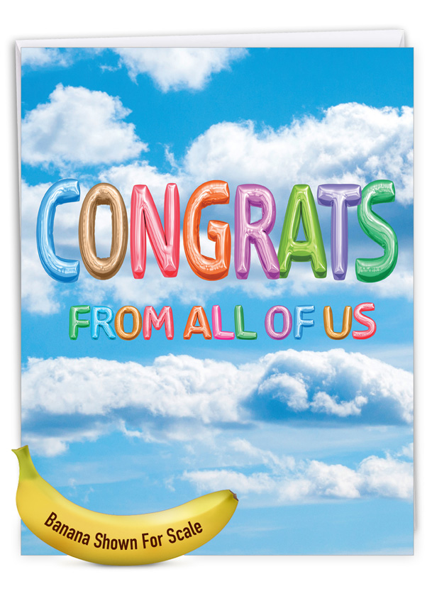 Inflated Messages - Congrats: Stylish Congratulations Extra Large Paper Card