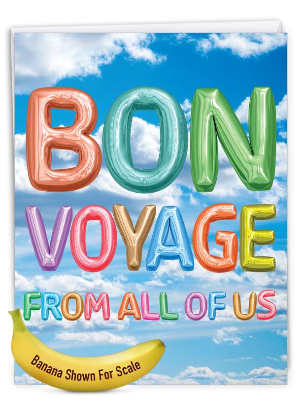 Inflated Messages - Bon Voyage: Creative Bon Voyage Giant Printed Card