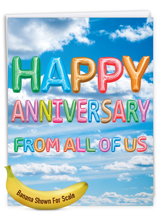 Inflated Messages - Anniversary: Stylish Anniversary Big Card